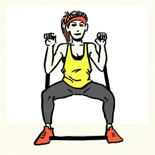 тренировка с резиновым жгутом