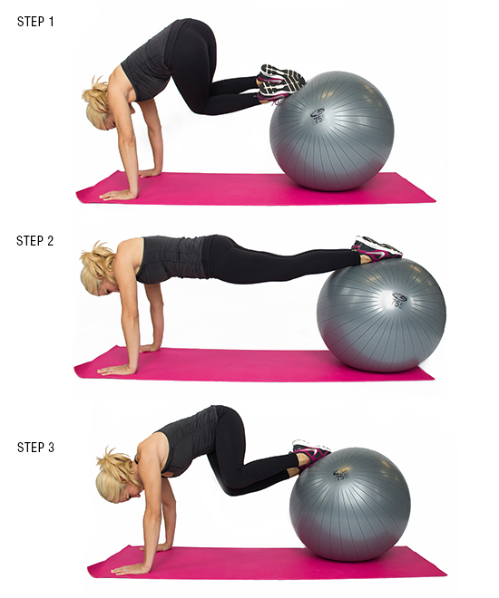 Plank Tuck Twist with Stability Ball